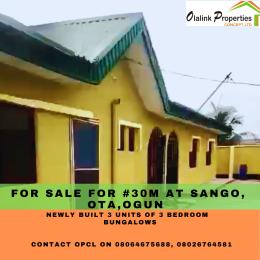 3 bedroom Semi Detached Bungalow for sale Sango Ota, Ogun State Sango Ota Ado Odo/Ota Ogun