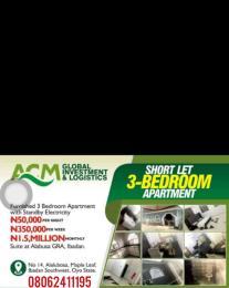 3 bedroom Semi Detached Bungalow House for shortlet Alalubosa Gra Alalubosa Ibadan Oyo