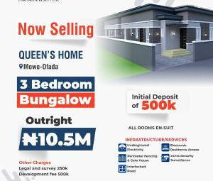 3 bedroom Flat / Apartment for sale Mowe Ofada Isheri North Ojodu Lagos