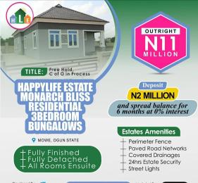 3 bedroom Detached Bungalow House for sale Monarch Bliss Residential Opposite Christopher University Mowe  Arepo Ogun