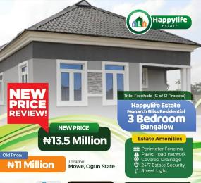 3 bedroom Detached Bungalow for sale Monarch Bliss Residential Opposite Christopher University Mowe Arepo Ogun