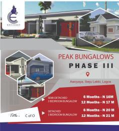 3 bedroom Semi Detached Bungalow House for sale Just Behind Mayfair Garden Awoyaya Ajah Lagos