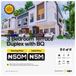 3 bedroom Terraced Duplex House for sale Lekki Pride Estate Secured Environment And Investors Delight Ajiwe Ajah Lagos