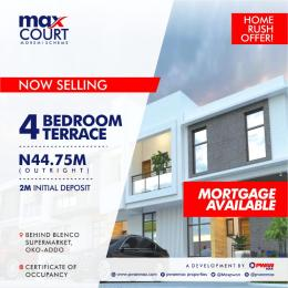 4 bedroom Terraced Duplex House for sale Behind Blenco Supermarket Oko Addo Sangotedo Ajah Lagos