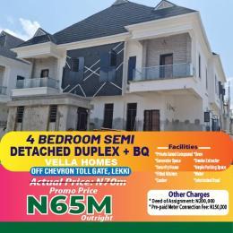 4 bedroom Semi Detached Duplex House for sale Vella Homes chevron Lekki Lagos