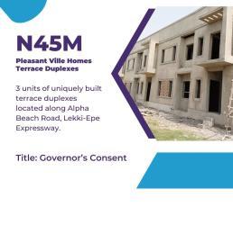 Terraced Duplex House for sale New Rd junction  , Alpha Beach rd lekki  chevron Lekki Lagos