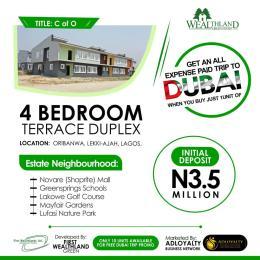4 bedroom Terraced Duplex House for sale ORIBANWA LEKKI- AJAH LAGOS.  Awoyaya Ajah Lagos
