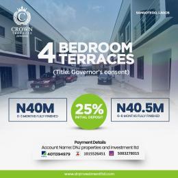 4 bedroom Terraced Duplex House for sale 1 Minute From Novare Mall (shoprite Sangotedo) Sangotedo Lagos