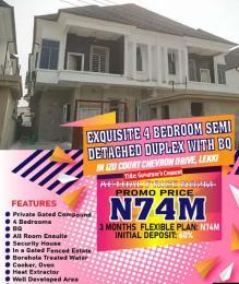 4 bedroom Semi Detached Duplex House for sale Izu Court.  chevron Lekki Lagos