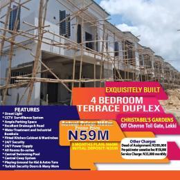 4 bedroom Terraced Duplex House for sale Christabel's Court, Off Chevron Toll-Gate. chevron Lekki Lagos