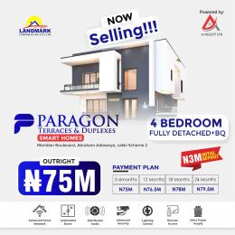 4 bedroom Detached Duplex House for sale Paragon Terraces And Duplex Inside Meridian Boulevard Estate Okun Ajah By Abraham Adesanya Roundabout A Home Of Luxury And Comfort Sophisticated Design For Royalty Okun Ajah Ajah Lagos