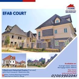 5 bedroom Detached Duplex House for sale Efab Court Nbora Abuja