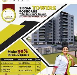 5 bedroom Penthouse Flat / Apartment for sale Sibgan towers  Osborne Foreshore Estate Ikoyi Lagos