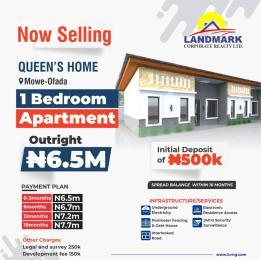 1 bedroom mini flat  Terraced Bungalow House for sale Mowe Ofada, few minutes after Nestle Mowe Obafemi Owode Ogun