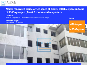 Office Space Commercial Property for rent Off kofo abayomi Kofo Abayomi Victoria Island Lagos