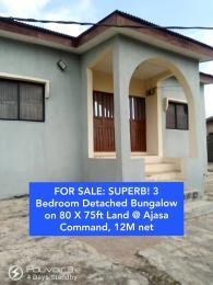 3 bedroom Detached Bungalow House for sale Whitehouse Ipaja road Ipaja Lagos