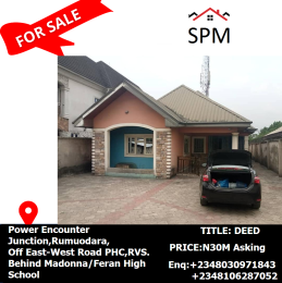 5 bedroom Detached Bungalow House for sale  Power Encounter Junction, Rumuodara,Off East-West Road PHC,RVS. Behind Madonna/Feran High School Port Harcourt Rivers