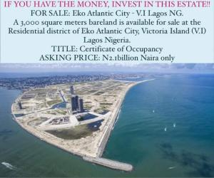 Mixed   Use Land Land for sale Eko Atlantic Victoria Island Lagos