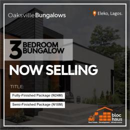 3 bedroom Detached Bungalow House for sale Eleko Junction Opposite Amen Estate  Eleko Ibeju-Lekki Lagos