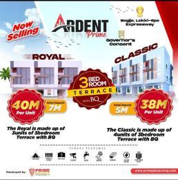 Terraced Duplex for sale Ardent Prime, Bogije Lakowe Ajah Lagos