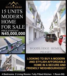 4 bedroom Terraced Duplex House for sale Woodlodge Estate Mobile Road  Ilaje Ajah Lagos