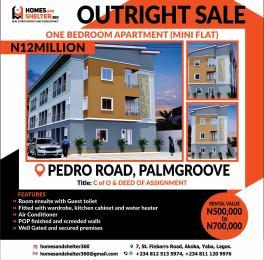 1 bedroom mini flat  Mini flat Flat / Apartment for sale off pedro road -palmgrove  Shomolu Lagos