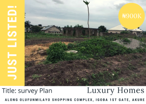 Mixed   Use Land Land for sale Along olufunmilayo shopping complex, Igoba First Gate Akure Akure Ondo
