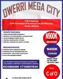 Serviced Residential Land Land for sale Nigerian Amry Headquarters Aba Abia