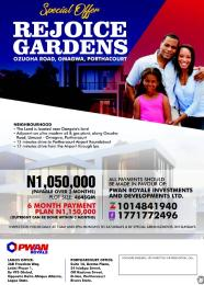 Serviced Residential Land Land for sale Ozuoha road, Omagwa Port Harcourt Rivers