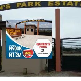 Land for sale Mowe Obafemi Owode Ogun
