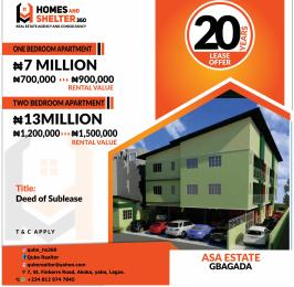 2 bedroom Blocks of Flats House for sale asa estate  Soluyi Gbagada Lagos