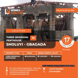 3 bedroom Penthouse Flat / Apartment for sale Soluyi Gbagada Lagos