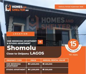 1 bedroom mini flat  Mini flat Flat / Apartment for sale Shomolu Shomolu Lagos