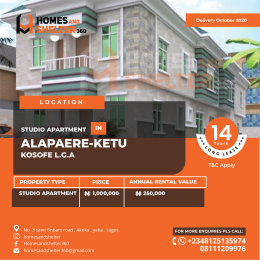 Self Contain Flat / Apartment for sale Alapere Kosofe/Ikosi Lagos