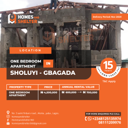 1 bedroom mini flat  Mini flat Flat / Apartment for sale Akoka Gbagada Lagos