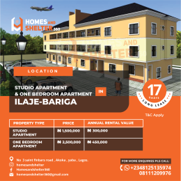 1 bedroom mini flat  Mini flat Flat / Apartment for sale - Bariga Shomolu Lagos