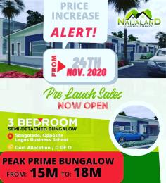 3 bedroom Detached Bungalow House for sale Inside Greenland Estate, sangotedo  Sangotedo Ajah Lagos