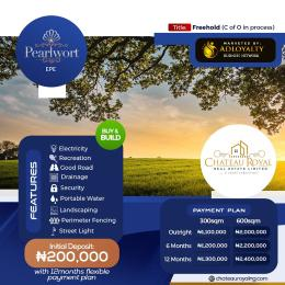 Residential Land for sale Ilara, Pearlwort Epe Lagos