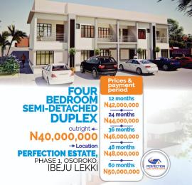 4 bedroom Semi Detached Duplex for sale Oshoroko Town Ibeju-Lekki Lagos