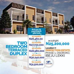 2 bedroom Terraced Duplex for sale Oshoroko Town Ibeju-Lekki Lagos
