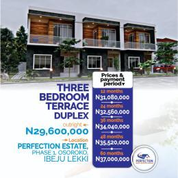 3 bedroom Terraced Duplex for sale Oshoroko Town Ibeju-Lekki Lagos