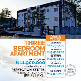 3 bedroom Blocks of Flats for sale Oshoroko Town Ibeju-Lekki Lagos