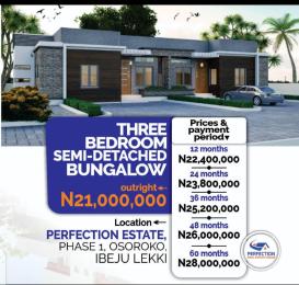 3 bedroom Semi Detached Bungalow for sale Oshoroko Town Ibeju-Lekki Lagos