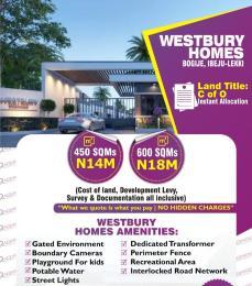 Residential Land Land for sale Westbury Homes, Bogije  Lekki Lagos