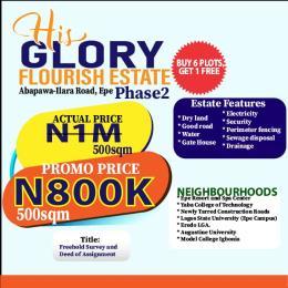 Residential Land for sale His Glory Flourish Estate Phase 2, Ilara Epe Epe Road Epe Lagos