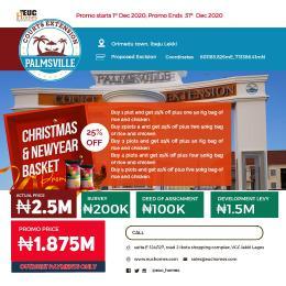 Residential Land Land for sale Palmsville Courts Extension Orimedu Ibeju-Lekki Lagos