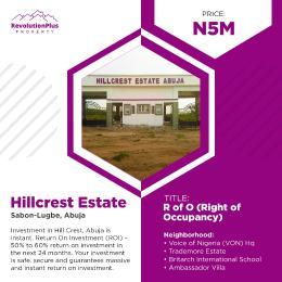 Residential Land for sale Sabon Lugbe Lugbe Abuja