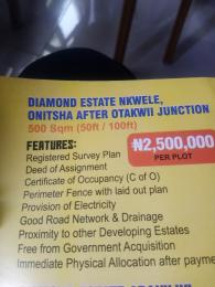 Residential Land Land for sale Diamond estate nkwele Onitsha South Anambra