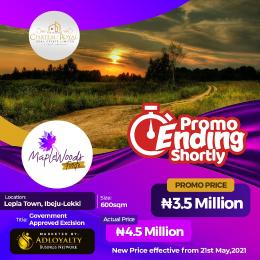 Residential Land for sale Maplewood Fortes, Lepia. 4mins From Lekki Free Trade Zone Ibeju-Lekki Lagos