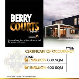 Residential Land Land for sale Berry Court, Sangotedo  Monastery road Sangotedo Lagos